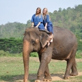 Riding elephant bareback + White water rafting + Long Neck Village